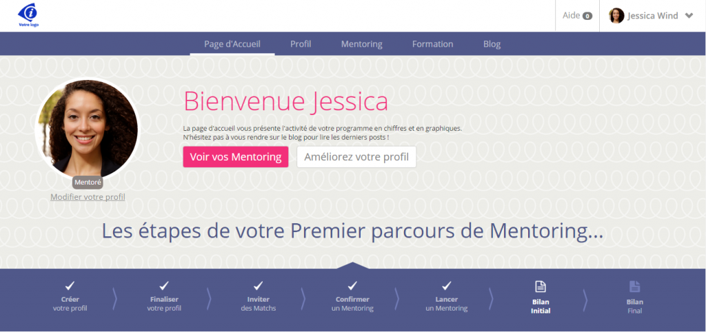 Page d'accueil Jessica